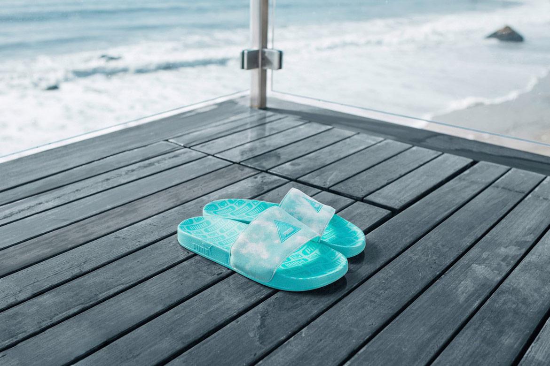Diamond Supply x Puma — modro-zelené pantofle — sandals — California Dreaming