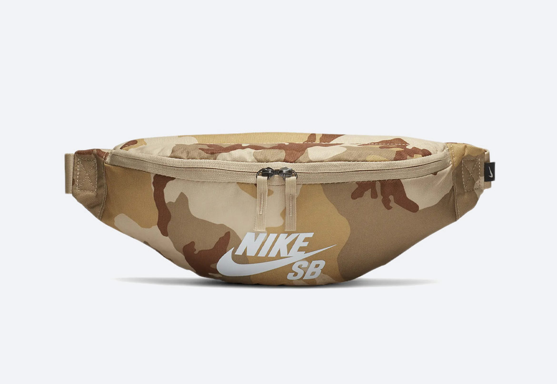 Ledvinka — Nike SB Heritage — hnědá maskáčová — pánská, dámská
