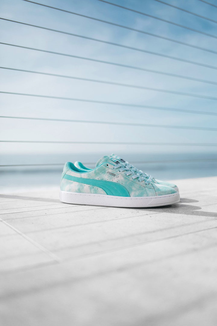 Diamond Supply x Puma — modro zelené boty Puma Suede — California Dreaming