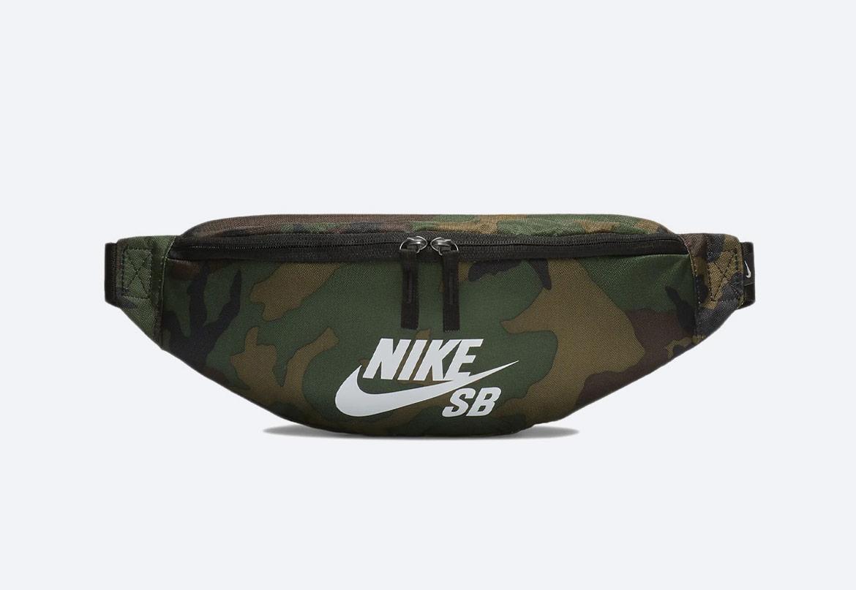 Ledvinka — Nike SB Heritage — zelená maskáčová — pánská, dámská