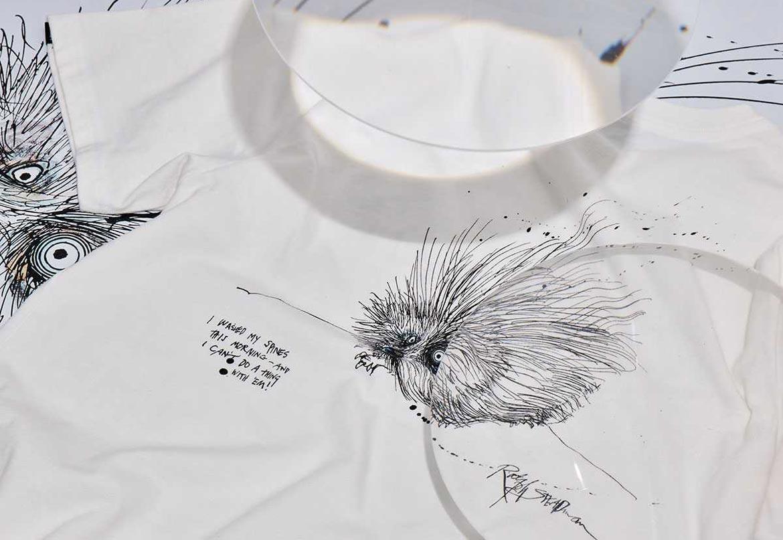 Vans x Ralph Steadman — bílé tričko s ilustrací ježka západního
