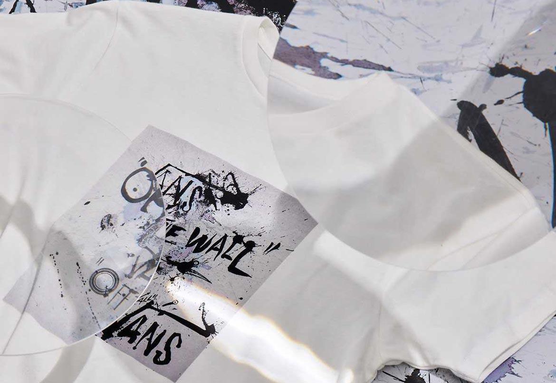 Vans x Ralph Steadman — bílé tričko s potiskem