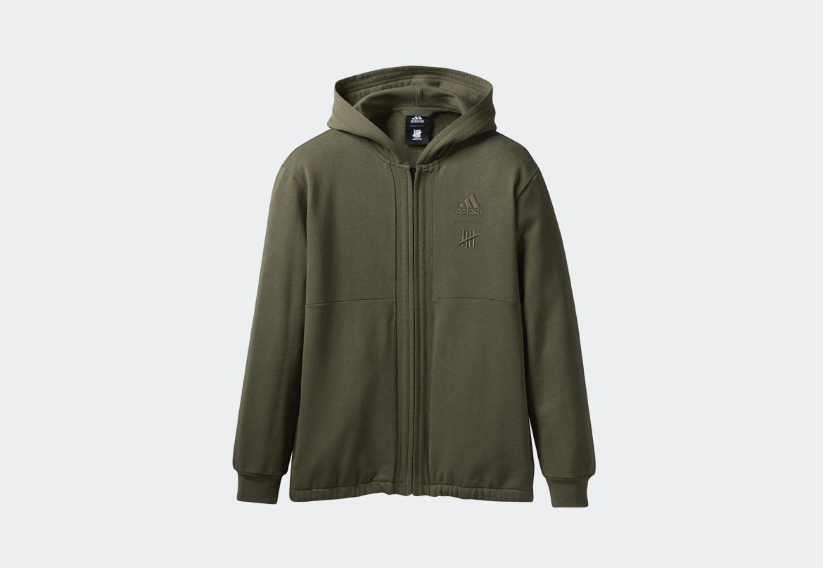 adidas x Undefeated — Hoodie — mikina s kapucí — zelená (army green)
