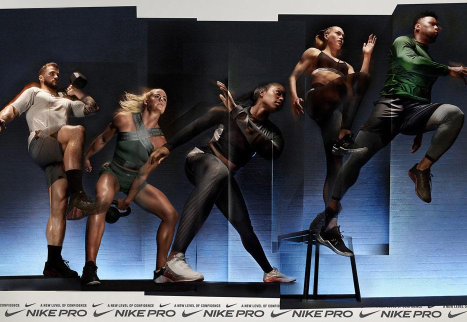 Nike Pro — pánské a dámské fitness oblečení do posilovny — workout