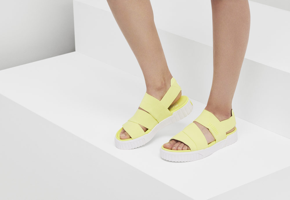 Puma Cali Sandal x Selena Gomez — sándály na platformě — dámské sandálky
