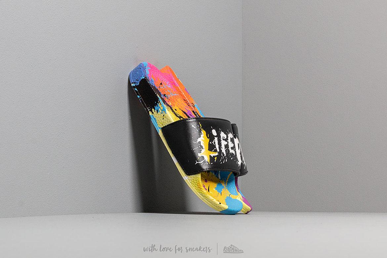Life is Porno x Footshop — barevné pantofle — dámské, pánské — slides summer pack