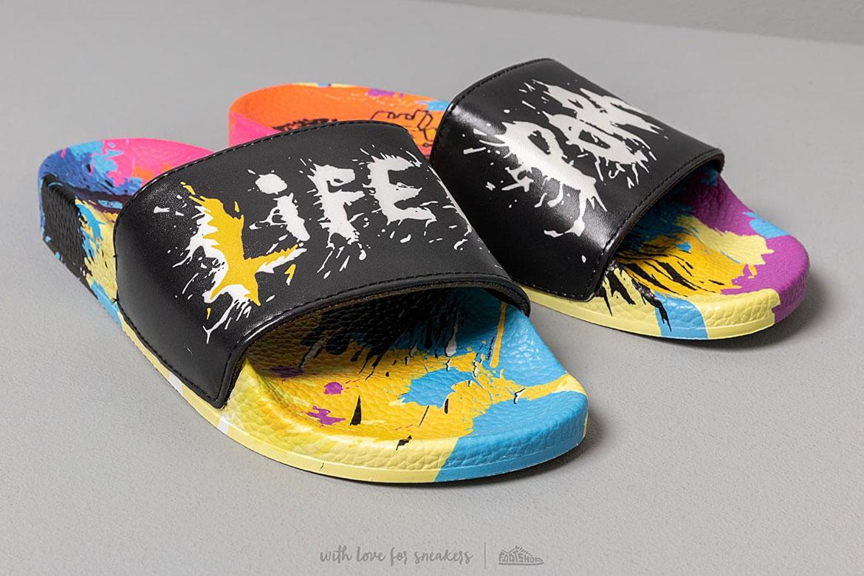 Life is Porno x Footshop — barevné nazouváky — dámské, pánské — slides summer pack