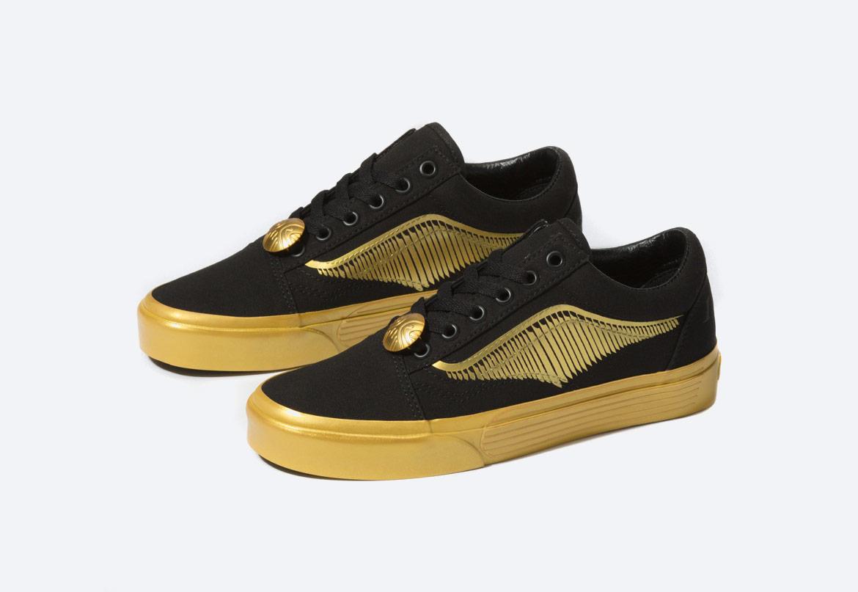 Vans x Harry Potter™ Old Skool Golden Snitch — boty — zlaté, černé — pánské, dámské, chlapecké a dívčí