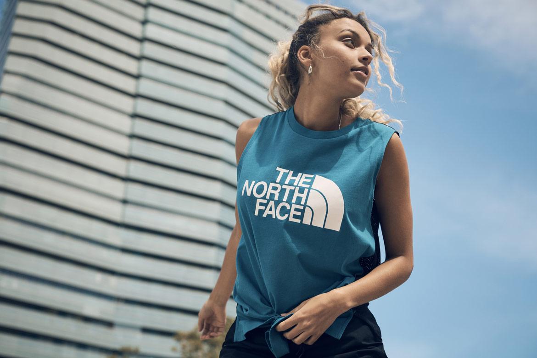 The North Face — Pacific Crest — dámské tričko bez rukávů — volné tílko — modré
