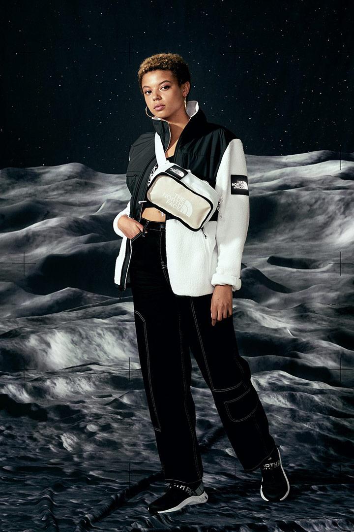 The North Face Lunar Voyage — bílá ledvinka — flísová bunda Denali