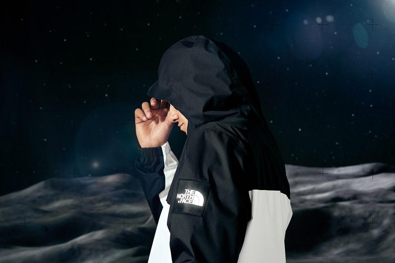 The North Face Lunar Voyage — černo-bílá šusťáková bunda Mountain Q s kapucí