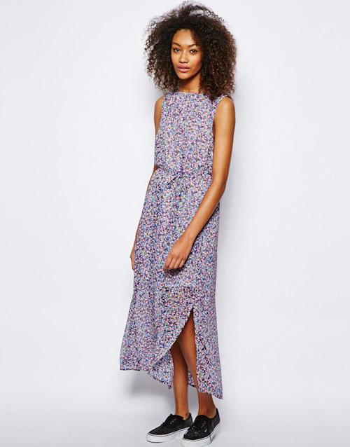 Šaty Asos – dlouhé, květinové, vzorované
