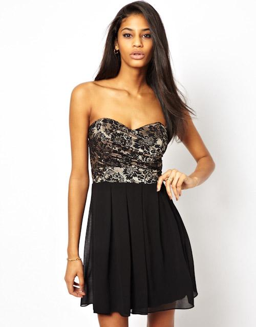 Šaty Asos – krajkové, černé