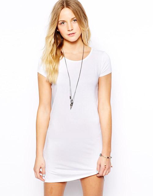 Šaty Asos – krátké, bílé