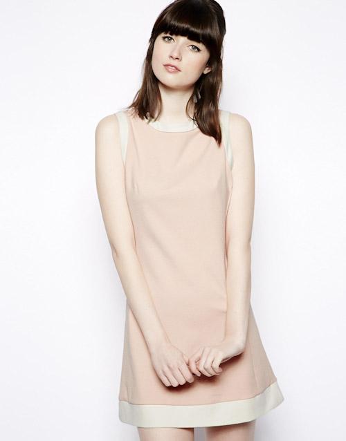 Šaty Asos – krátké, pleťová barva