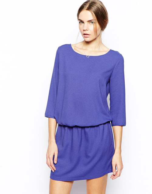 Šaty Asos – krátké, modré