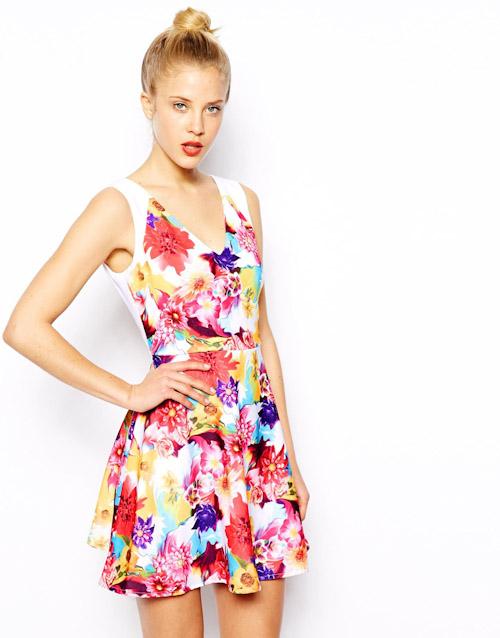 Šaty Asos – letní, květinový vzor