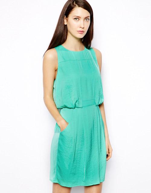 Šaty Asos – letní, zelené