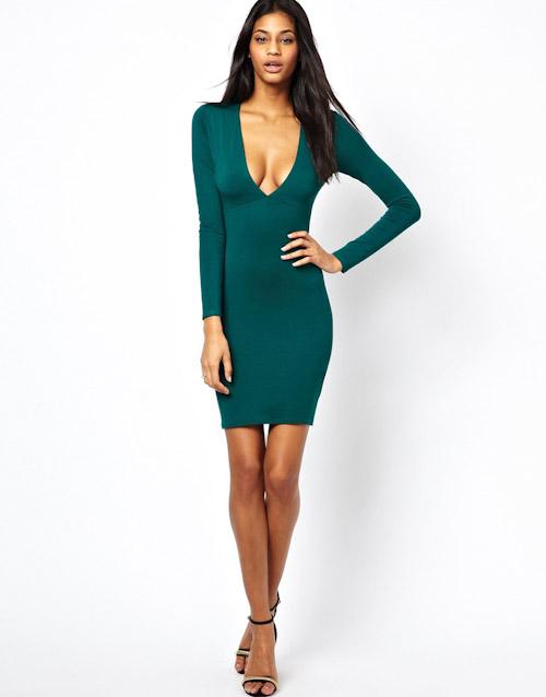 Šaty Asos – puzdrové, zelené