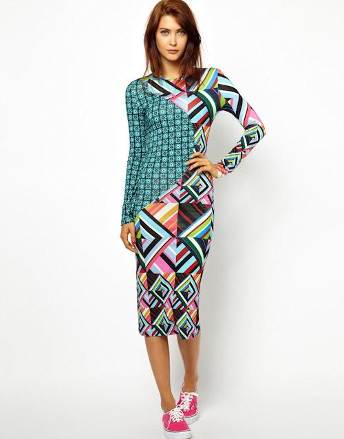 Šaty Asos – pouzdrové, barevné