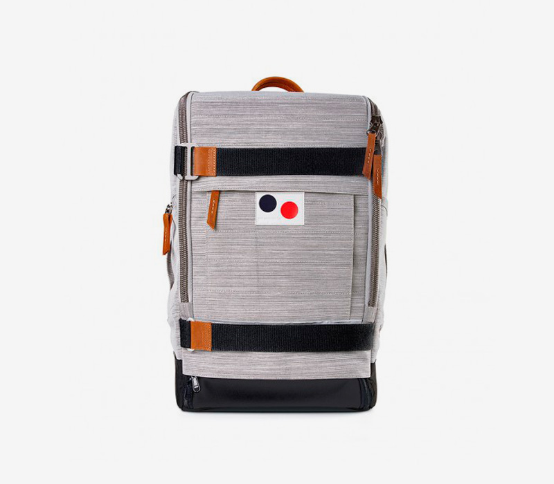 PINQPONQ — plátěný batoh z PET lahví — šedý, melírovaný — Cubiq Large