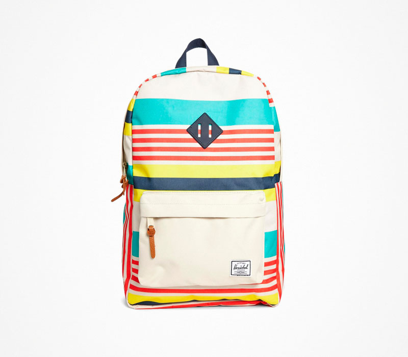 Plátěný batoh – Herschel Supply – barevný, béžový, stylový ruksak na záda