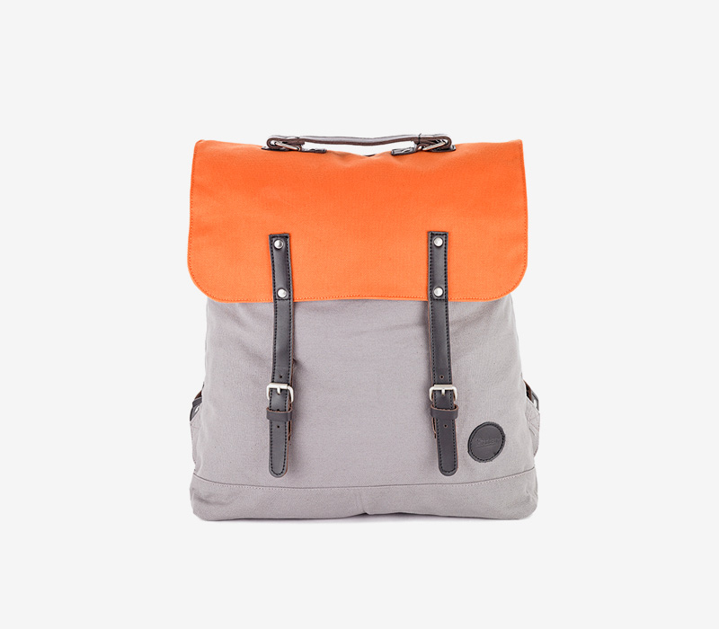 Enter — plátěný batoh — oranžový, šedý