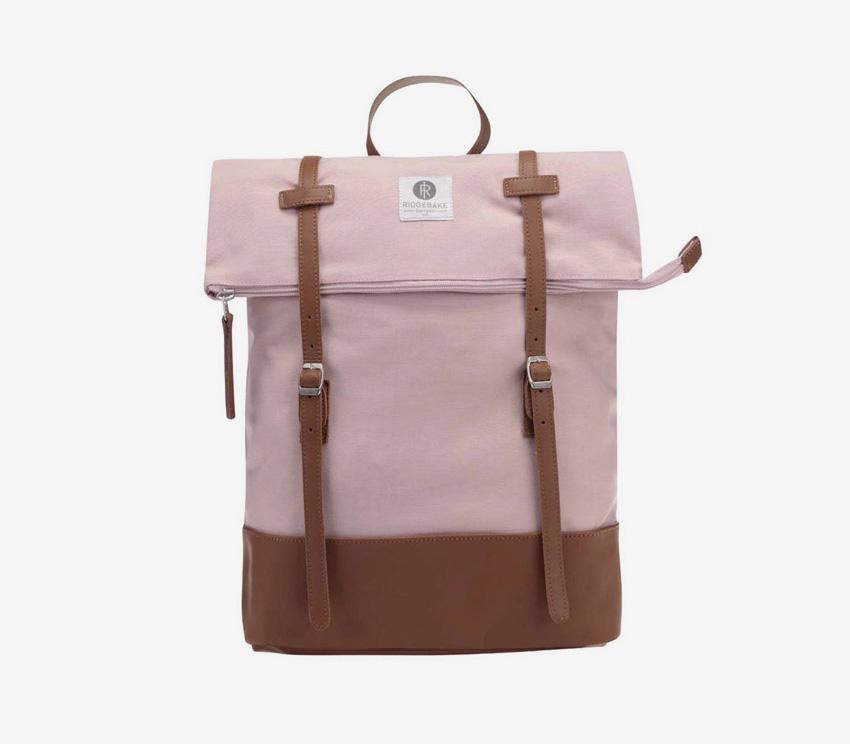 Ridgebake — plátěný batoh, rolovací, přehýbací — Mid Rolling — světle růžový