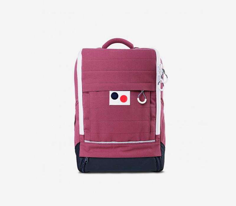 PINQPONQ — plátěný batoh z PET lahví — vínový, červený — Cubiq Small