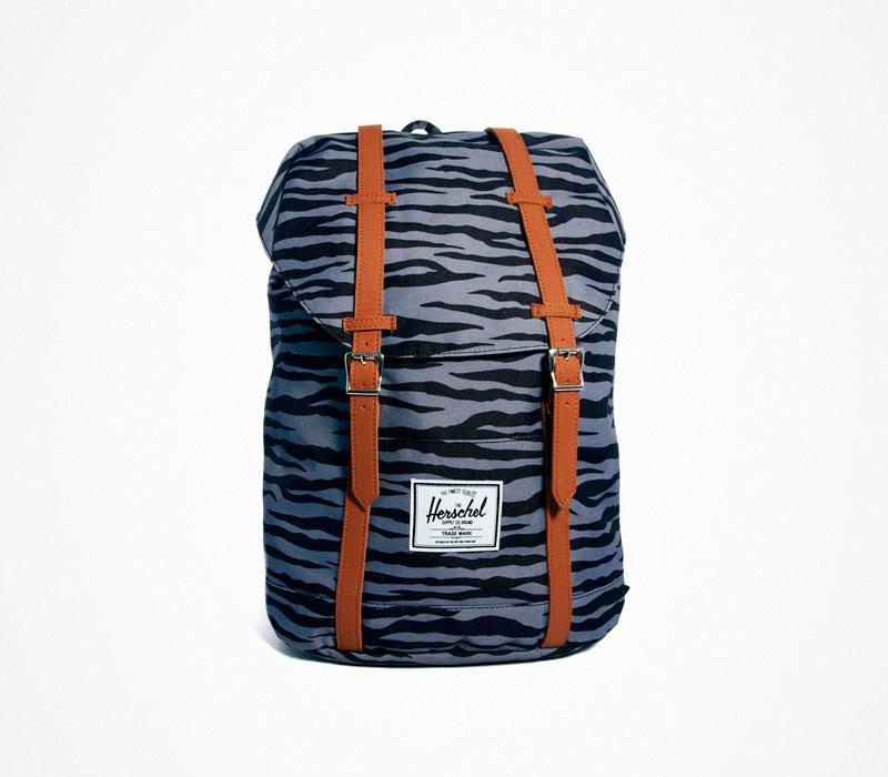 Plátěný batoh – Herschel Supply – zebrovaný ruksak, bledě modrý, fialový