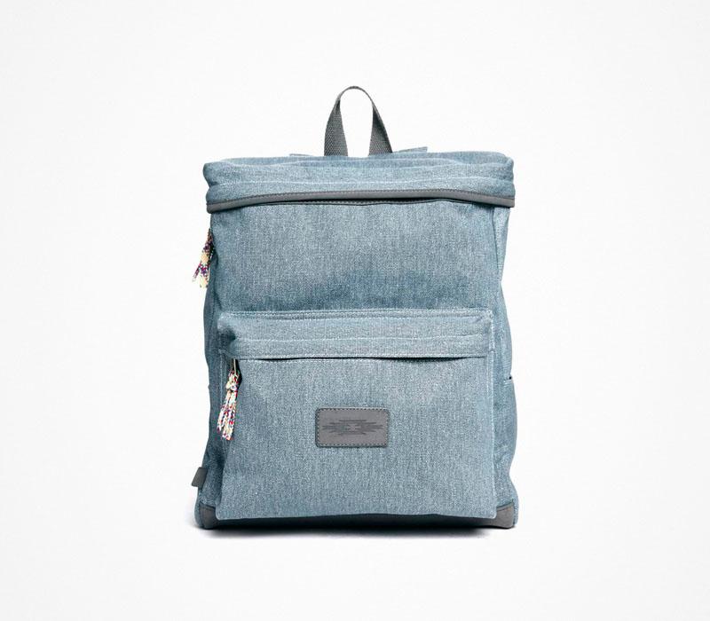 Plátěný batoh – Asos – bledě modrý, stylový ruksak, na záda