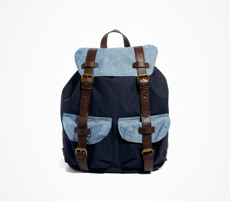 Plátěný batoh – Asos – modrý ruksak na záda