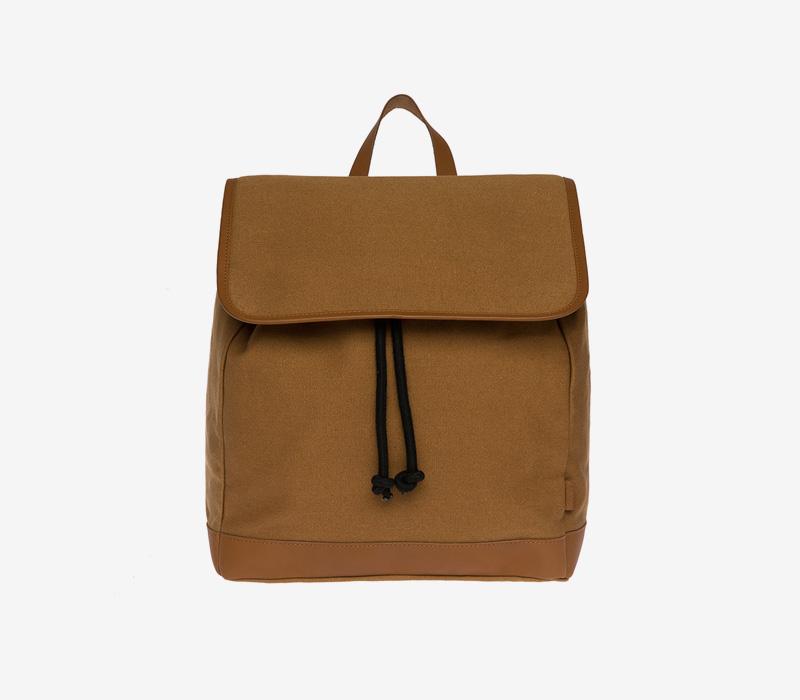 Enter — plátěný batoh — hořčicový, hnědý