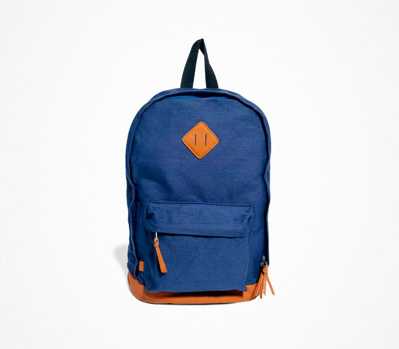 Plátěný batoh – Asos – modrý, ruksak, na záda