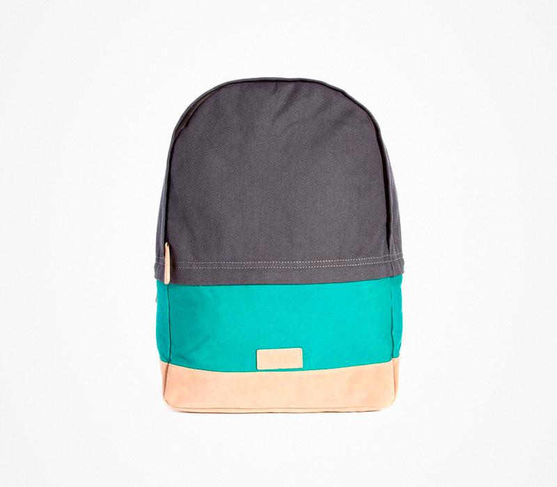 Plátěný batoh – Asos – šedo-zeleno-béžový, stylový ruksak na záda