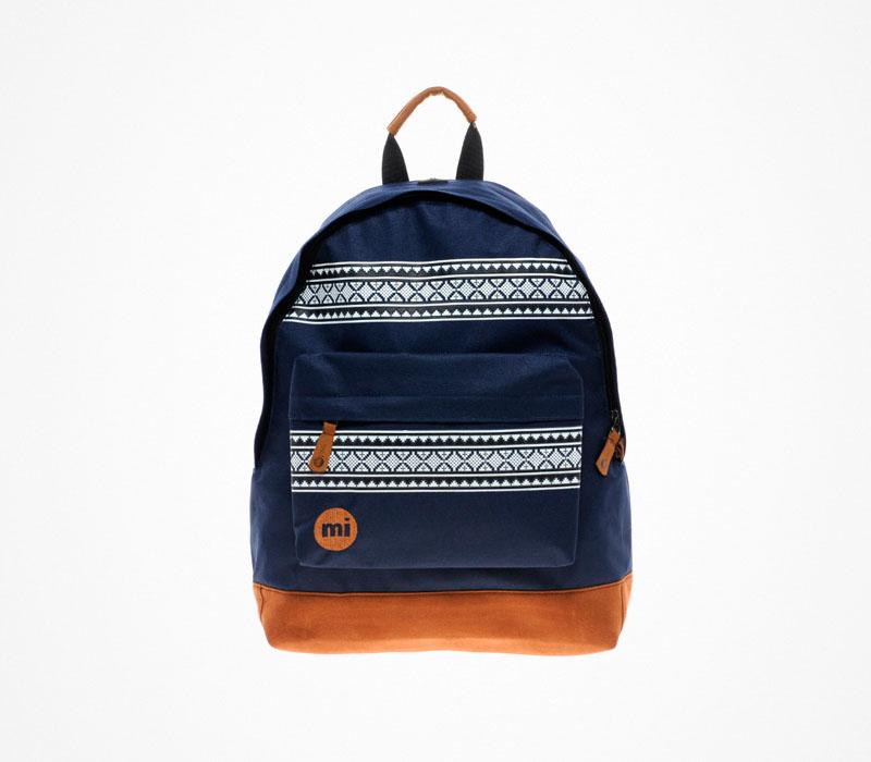 Plátěný batoh – Mi Pac – modrý, stylový ruksak na záda