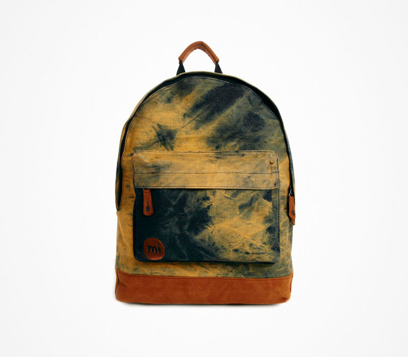 Plátěný batoh – Mi Pac – modro-žlutý ruksak na záda, stylový