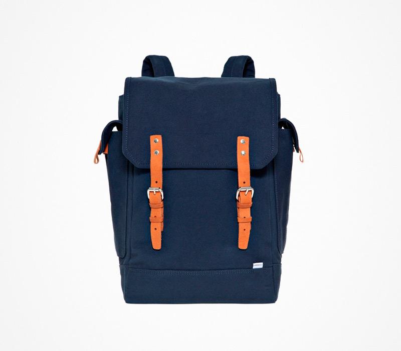 Plátěný batoh – Sandqvist – modrý, ruksak na záda