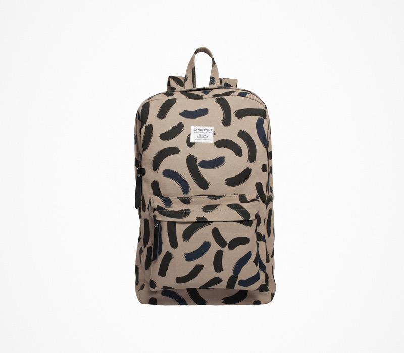 Plátěný batoh – Sandqvist – béžový, ruksak na záda