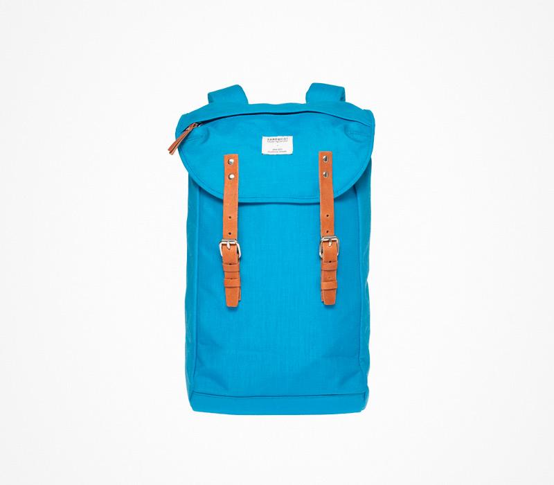 Plátěný batoh – Sandqvist – tyrkysový, modrý, ruksak na záda