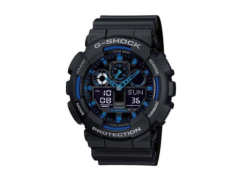 Hodinky Casio G-Shock GA-100-1A2ER – černé – pánské, dámské