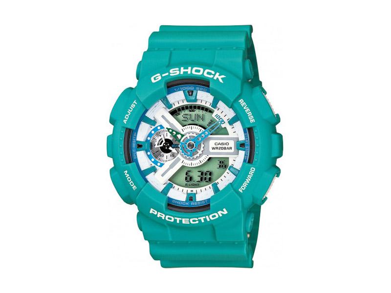 Hodinky Casio G-Shock GA-110SN-3A – zelené – pánské, dámské