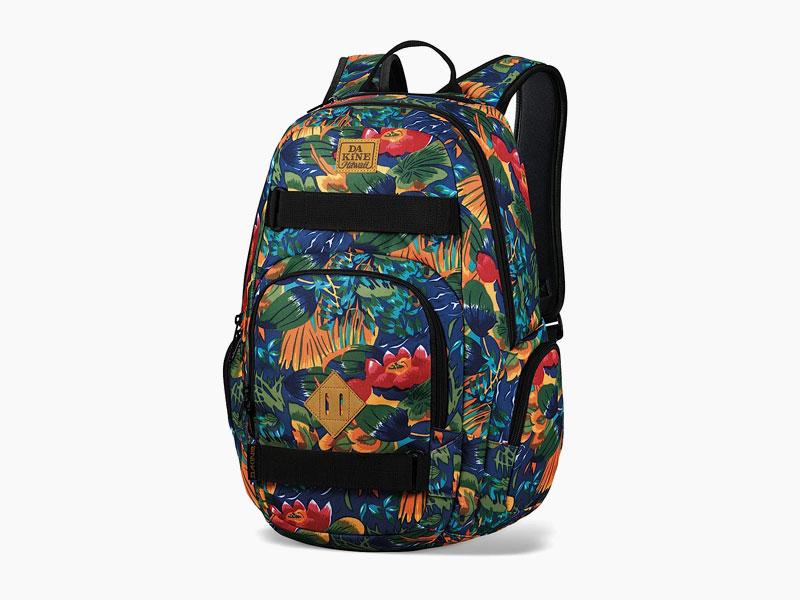 Dakine – studentský, školní a skate batoh na záda, barevný se vzorem květin | Atlas 25 l – Higgins