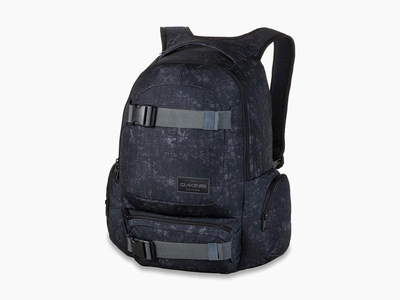 Dakine – studentský, školní a skate batoh na záda, tmavě modrý se vzorem | Daytripper 30l