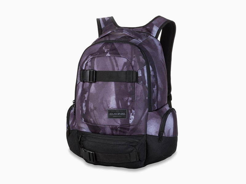 Dakine – studentský, školní a skate batoh na záda, tmavě fialový se vzorem | Daytripper 30l
