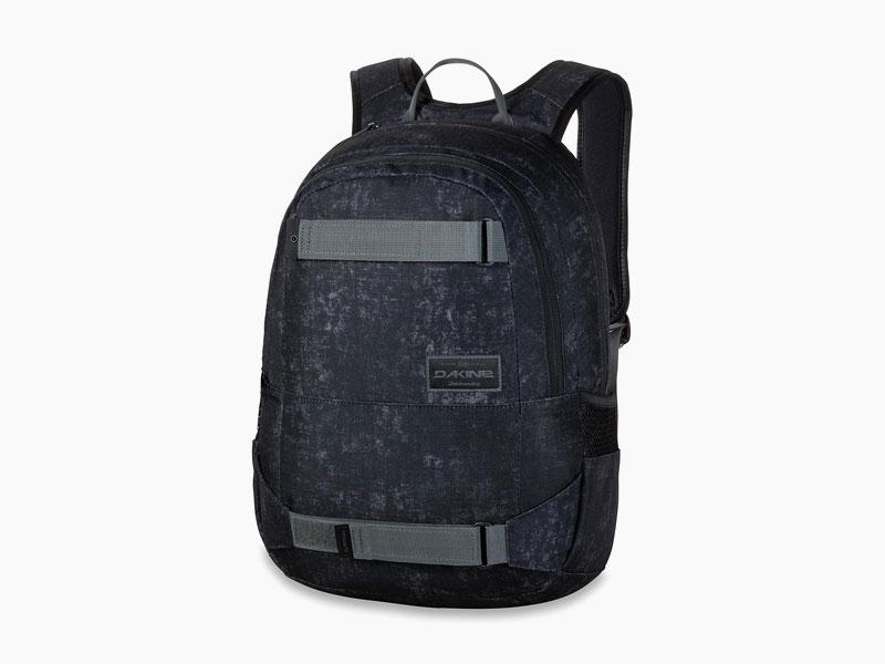 Dakine – studentský, školní a skate batoh na záda, černý se vzorem | Option 27 l – Ash