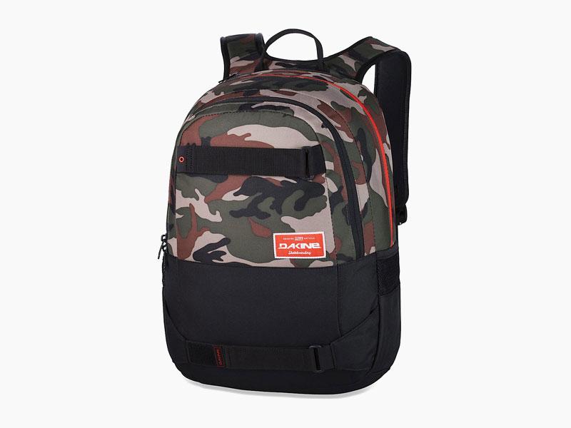 Dakine – studentský, školní a skate batoh na záda, maskáčový | Option 27 l – Camo