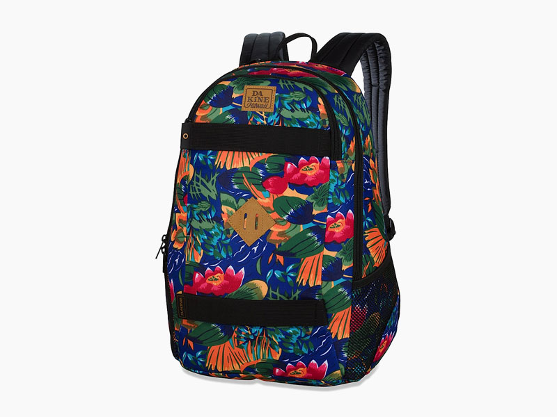 Dakine – studentský, školní a skate batoh na záda, barevný s motivem květin | Exit 20 l – Higgins