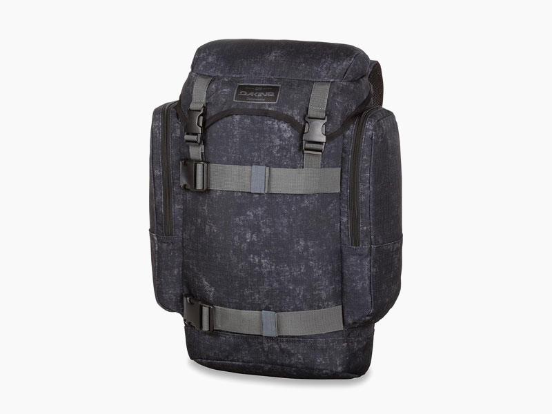 Dakine – studentský, školní a skate batoh na záda, černý se vzorem | Lid 26 l – Ash