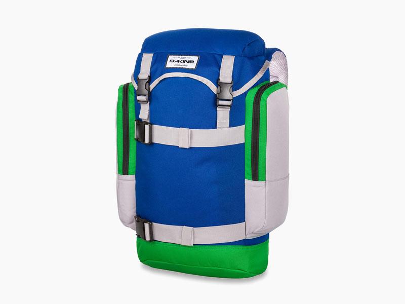 Dakine – studentský, školní a skate batoh na záda, modrý, zelený | Lid 26 l – Portway
